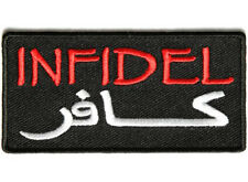 INFIDEL Embroidered Jacket Vest Biker Saying Patch Emblem Tactical Military Army