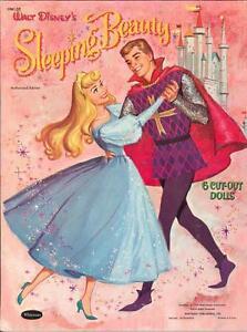 VINTAGE UNCUT 1959 SLEEPING BEAUTY PAPER DOLLS ~CUTE HD LASER REPRODUCTION~LOP