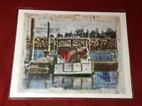 "Rusty Boat Studio Lisa Graff Art - Boat Print 11"" x 8 3/4"""