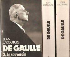 De Gaulle .Le rebelle tome 1.Le Politique .Tome 2.Le souverain.Tome 3