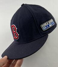 Boston Red Sox 2004 World Series Champions MLB New Era Fitted Hat Cap 7 3/8 READ