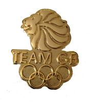 OFFICIALLY LICENSED GOLDEN TEAM GB LIONS HEAD OLYMPIC PIN