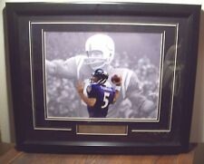 UNITAS COLTS & FLACCO RAVENS BALTIMORE ALL TIME PASSING LEADERS FRAMED PICTURE