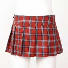 US Women Schoolgirl High Waist Mini Skirt A Line Role Play Plaid Costumes Club