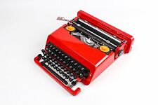 THE BEST Olivetti Valentine, Perfectly Working  Red Typewriter with case