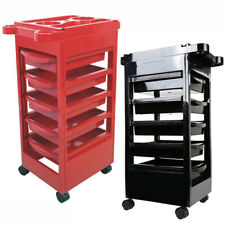 5 Drawers Salon Hairdresser Barber Storage Trolley Cart Stations Hair Colouring