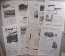 Westinghouse Traction Brake LOT of 13 PRINT AD - 1920 & 1921 ~ train, trolley