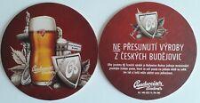 Budvar Budweiser - Bierdeckel aus Tschechien