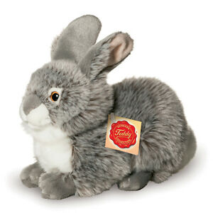 Grey Rabbit plush soft toy bunny by Teddy Hermann - 93774 - 25cm
