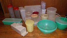 Huge Lot of Mixed Vintage Tupperware Storage Containers with Lids