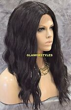 Long Beach Wavy Dark Brown Full Lace Front Wig Heat Ok Hair Piece #2 NWT