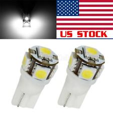 2PCS 168 194 2825 HID White 5-5050-SMD LED Bulbs For License Plate Lights Bulbs