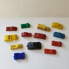 Lot of 12 Vintage Molded Plastic Toy Vehicles Cars Trucks Train Construction