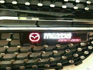 For MAZDA LED Light Car Front Grille Badge Emblem Illuminated Bumper -Sticker