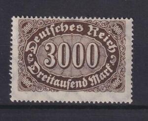 DR 254 d Querovale 3000 M gute Farbe schwarzbraun postfrisch geprüft (kt208)