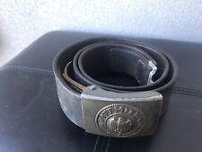 WW2 German Leather Belt With Buckle .