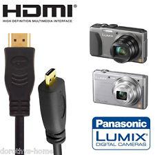 Cámara Digital Panasonic Lumix TZ7 TZ80, monitor de TV HDMI Micro 5 m cable de plomo