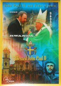 Pope John Paul II and Fidel Castro s/s MNH #VG723 IMPERF