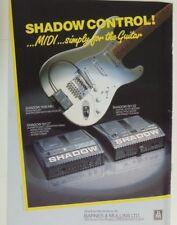 retro magazine advert 1989 SHADOW MIDI GUITAR SYSTEMS