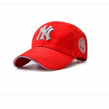 Red Unisex Men Women Baseball Bboy Cap Adjustable NY Snapback Sport Hip-Hop Hat