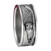 Fashion Owl Animal Band Ring Women Men Wedding Jewelry Size Gift C2S0 6-14 Y0N0