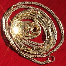 """10k yellow gold necklace 20.0"""" solid gucci style link chain vintage 0.86g strong"""