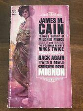 Vintage Paperback MIGNON by James M. Cain BANTAM 1963