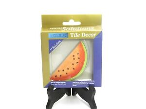 LOT of 3 CREATIVE SOLUTIONS HOMELUX TILE DECOR STICK ON WATERMELON APL211