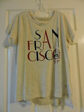 "NWT Gap Women Tee Graphic ""SAN FRANCISCO"" short sl 100% cotton oatmeal xl xlarge"