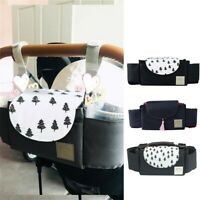 Baby Organiser Mummy Bags Storage Buggy Stroller Pram Pushchair Bottle Cup Stand