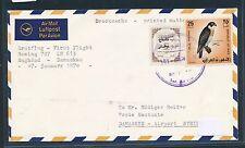 95835) LH FF Baghdad Irak - Damaskus Syrien 7.1.70, cover birf Vögel RR!!