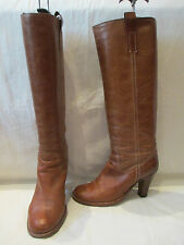 Russell Bromley 100% Leather Block Knee High Women's Boots