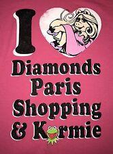 =Disney Store Muppets Miss Piggy 100% Cotton Pink S/S T-Shirt M Women's Diamonds