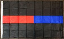 3x5 Blue and Red Line Police Firefighters First Responders Flag Memorial Banner