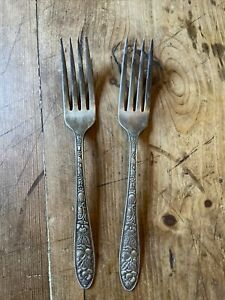 Set Of Two Silver Forks