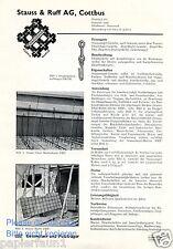 Betoneisen Stauss & Ruff Cottbus Reklame v. 1935 Staussziegel Drahtziegel Gewebe