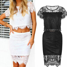 Lace Short Sleeve Wiggle, Pencil Floral Dresses for Women