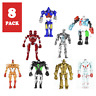 Real Steel Movie Movable Action Figures, Atom Noisy Boy Midas Twin Cities Zeus