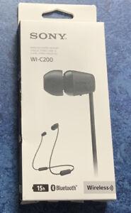 Sony WI-C200 Wireless Bluetooth Stereo Headset In-ear Headphones Black