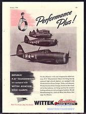 1944 WWII REPUBLIC Aviation P-47 Thunderbolt WW II WW2 War Plane Wittek AD