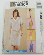 Coser con Nancy McCall's Easy Armario De Punto Patrón 3122 Vestidos Pantalones Falda