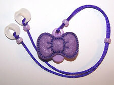 Children's Hearing Aid safety Leash RETAINER CORD CLIP for 2 H.A.'s PURPLE BOW