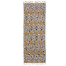 Hand Dyed  Rug Hand Woven Block Print Rag Floor Mat Cotton Dhurrie Rug 2x6 Feet