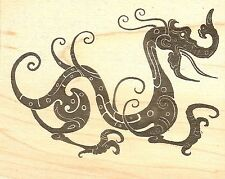 Chinese Dragon Wood Mounted Rubber Stamp JUDIKINS - NEW, 2564G