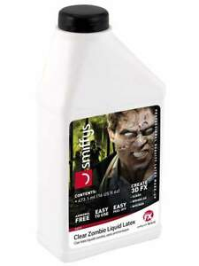 Smiffy's Make-Up FX Zombie Liquid Latex, Ammonia-Free, Clear 473 ml/16 oz.