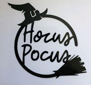 1x Hocus Pocus Car Van Vinyl Sticker Halloween Funny Window Decal Witch 5inBlack