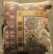 (40*40cm, 16inch) Boho style vintage kilim cushion cover mustard cream pastel