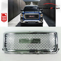 Fit For GMC 2014-2015 Sierra 1500  front Denali Style Grill Chrome Hood Up