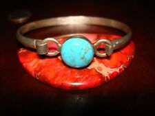 Beautiful Vintage Sterling Silver & Turquoise Bracelet.925