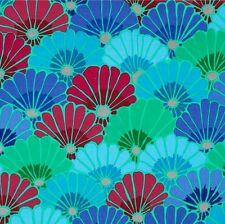 Kaffe Fassett Thousand Flowers Fabric PWGP144 Blue Fall 2014 Collection BTY